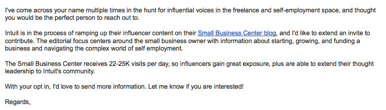 Content mill - recruiting email