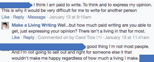 Are business writers sellouts? Discussion on Make a Living Writing