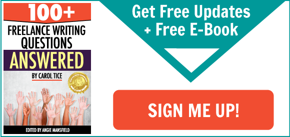 Freelance writers -- Get Free Updates + Free E-Book! Sign me up!